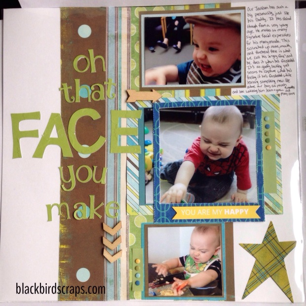 12x12 baby boy scrapbook layout