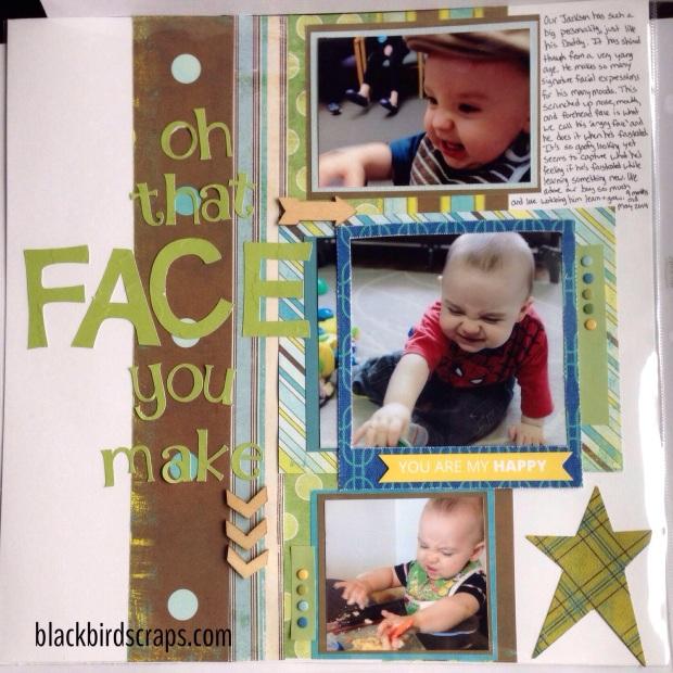 12x12 baby boy scrapbook layout