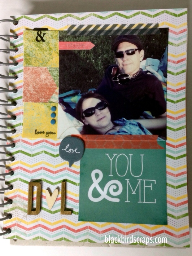 Using the Stampin' Up 'Epic Day This & That' journal to scrap memories of my husband and I.