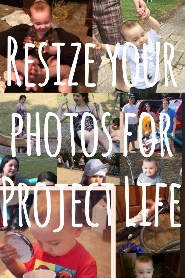Create perfectly sized photos for your Project Life pocket pages!