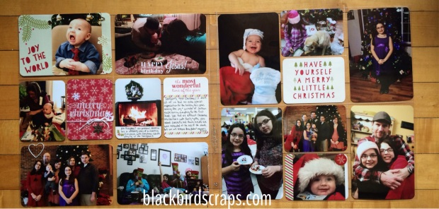 Project Life Christmas layout using the Seasonal Snapshot collection