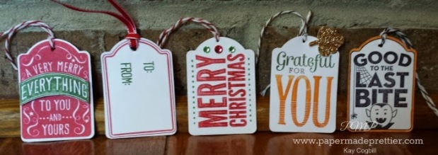 """Merry Everything"" stamp set bundled with the note tag punch!"