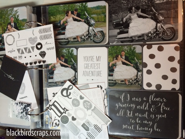 Wedding album using the Love Story PLxSU collection
